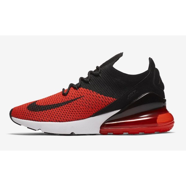 Nike Air Max 270 Flyknit Chile Rouge Noir Chaussur...