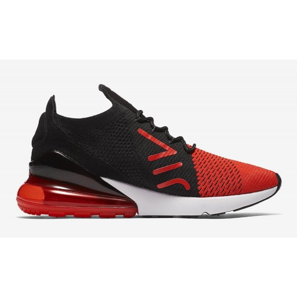 Nike Air Max 270 Flyknit Chile Rouge Noir Chaussures Homme AO1023-601