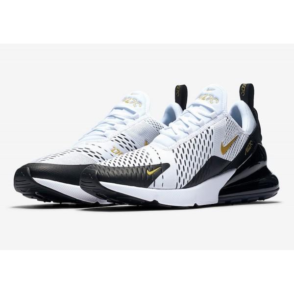 Nike Air Max 270 Blanche Metallic Gold Noir Chaussures Homme AV7892-100