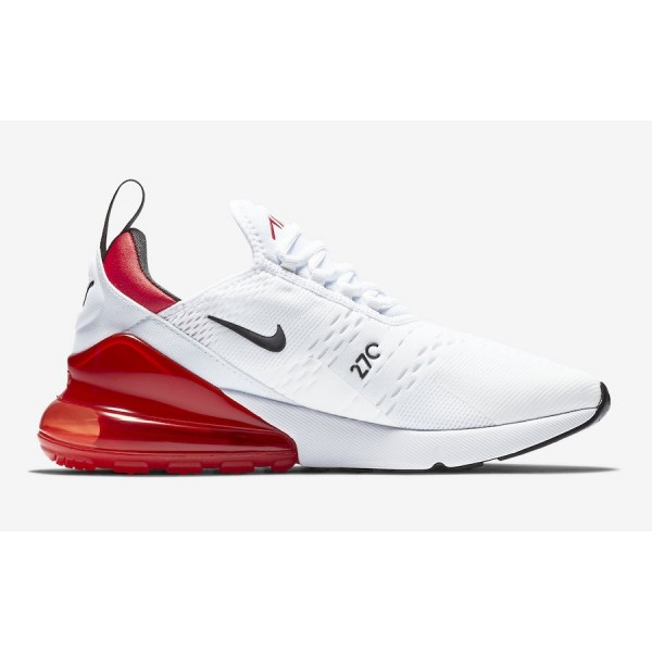 Nike Air Max 270 Blanche University Rouge Chaussures Homme BV2523-100