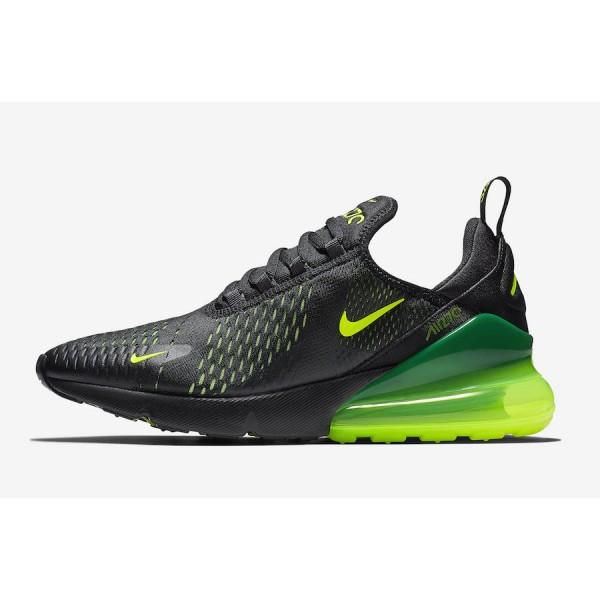 Nike Air Max 270 Noir Volt Gris Chaussures Homme A...