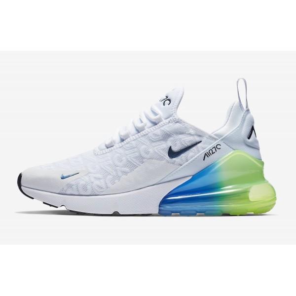 Nike Air Max 270 Blanche Explosion Vert Jaune Chau...