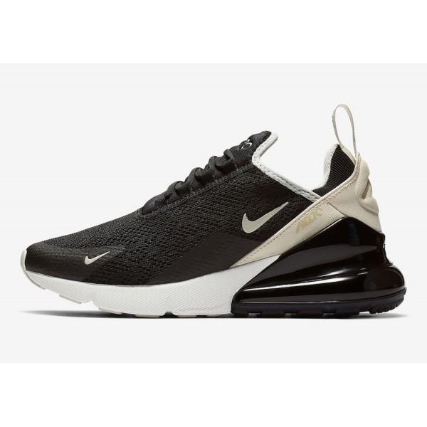 Nike Air Max 270 Noir Beige Chaussures Femme AH678...