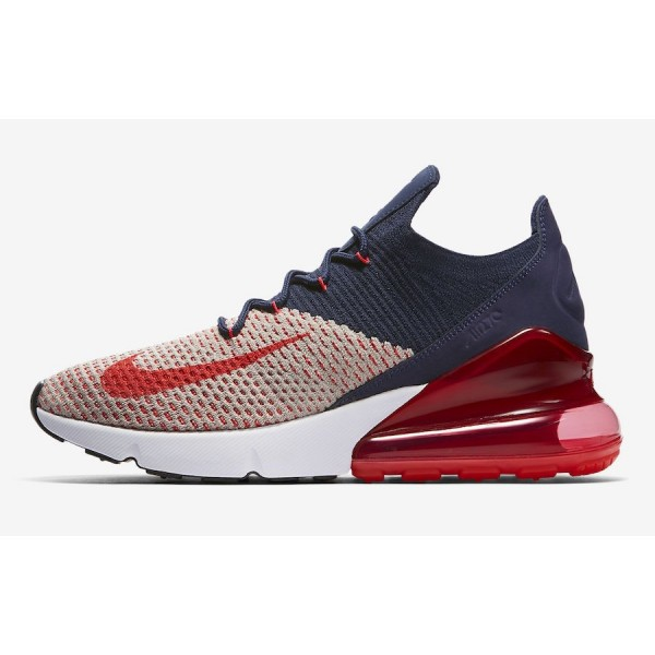 Nike Air Max 270 Flyknit College Navy Rouge Orbit ...