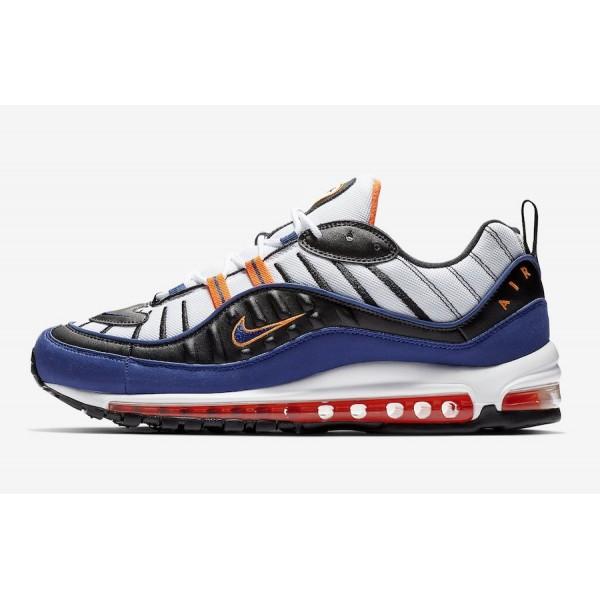 Nike Air Max 98 Blanche Deep Royal Bleu Chaussures...