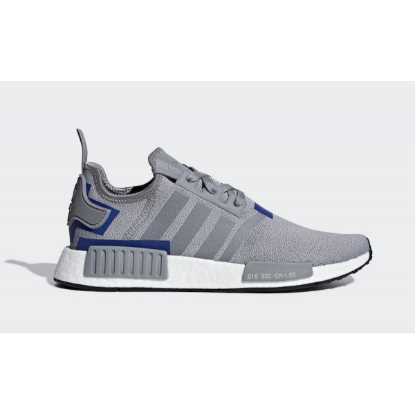 adidas NMD R1 Grey/Grey-Active Blue Shoes BD7742