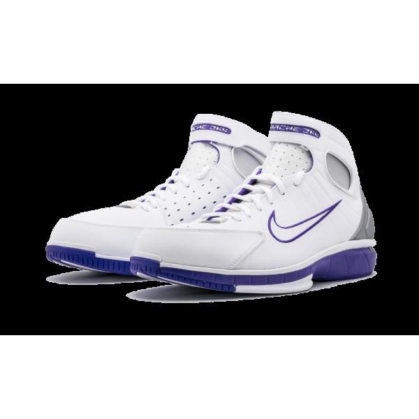 Nike Air Zoom Huarache 2K4 Blanche/Métallique Argent/Pourpre 511425-115