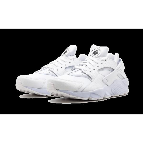 Nike Air Huarache Run PRM Blanche/Noir 704830-100