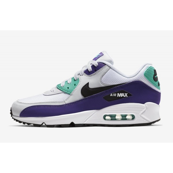 Nike Air Max 90 Essential Blanche Court Pourpre Ch...