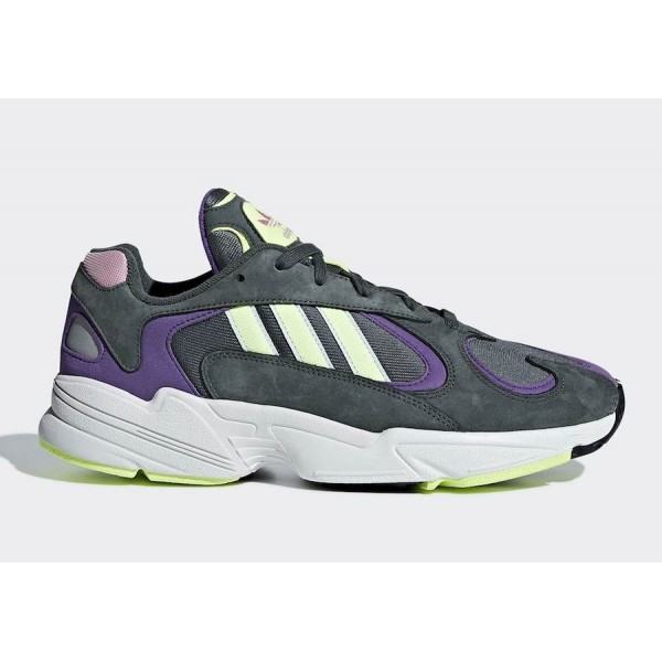 adidas Yung-1 Steel Grey/Purple/Neon Shoes BD7655