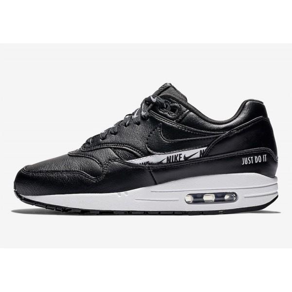 Nike Air Max 1 SE Noir Blanche Chaussures Femme 88...