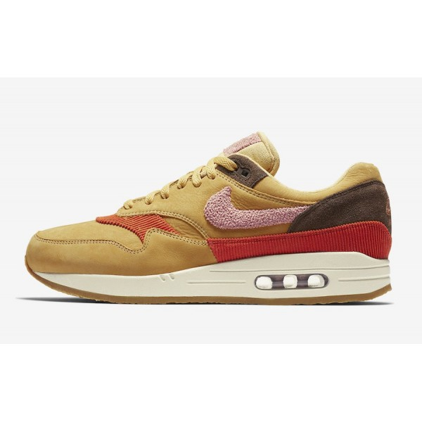 Nike Air Max 1 Premium Wheat Gold Rust Rose Chauss...