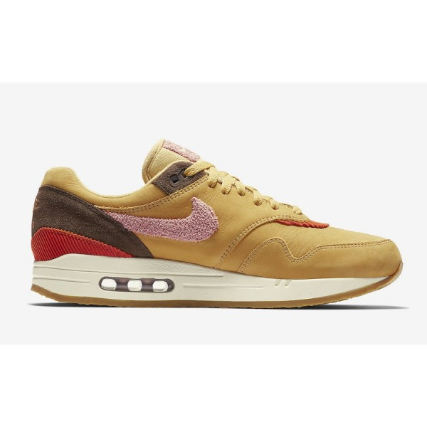 Nike Air Max 1 Premium Wheat Gold Rust Rose Chaussures Homme CD7861-700