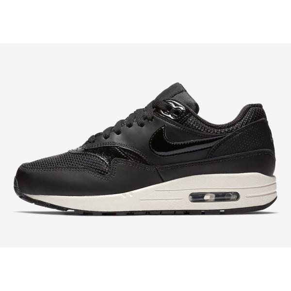 Nike Air Max 1 Noir Summit Blanche Chaussures Femm...