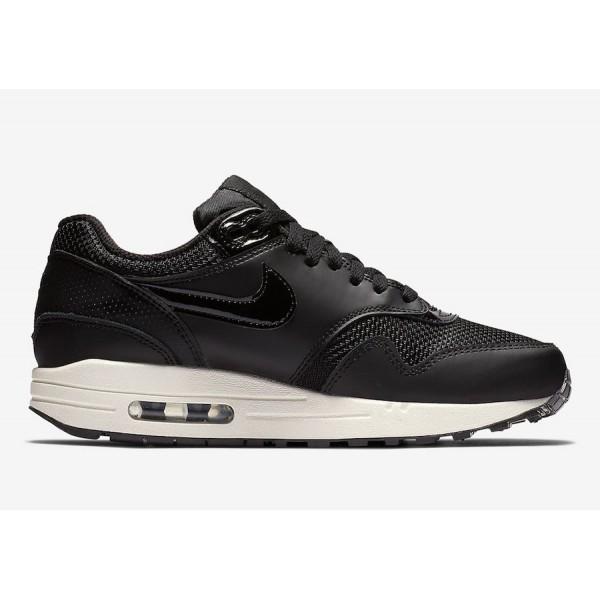 Nike Air Max 1 Noir Summit Blanche Chaussures Femme 319986-039