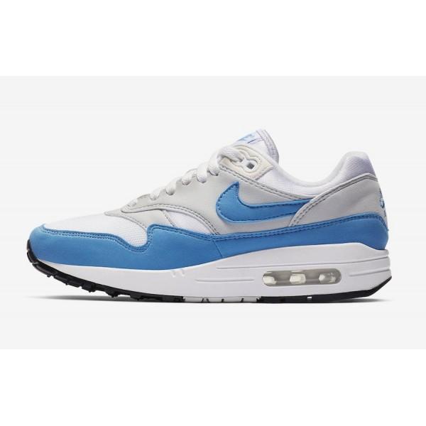 Nike Air Max 1 Blanche Baby Bleu Gris Chaussures F...