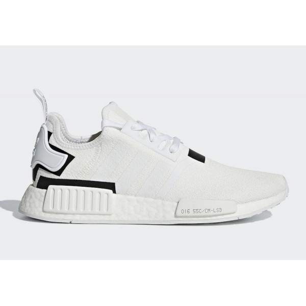 adidas NMD R1 Cloud White/Cloud White-Core Black S...