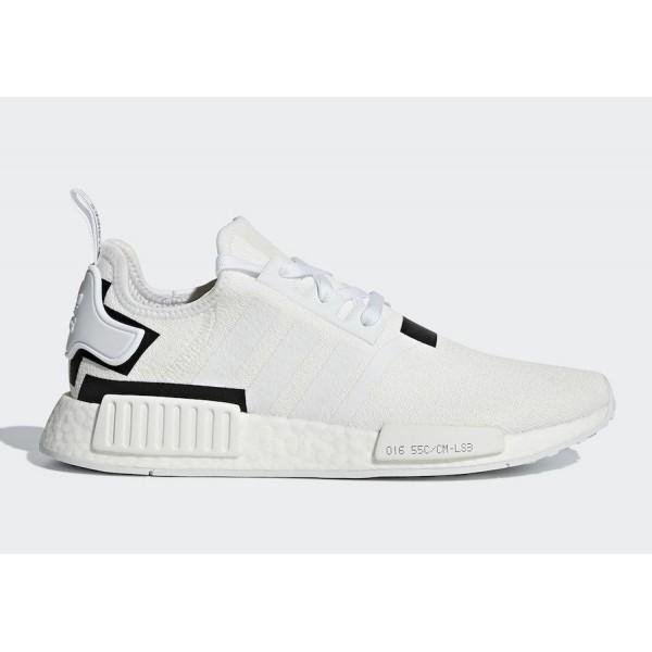 adidas NMD R1 Cloud White/Cloud White-Core Black Shoes BD7741