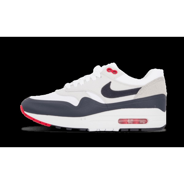 Nike Air Max 1 V SP Blanche/Obsidian/Rouge 704901-...