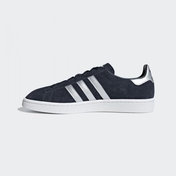 Adidas Homme Originals Campus Bleu Blanche Chaussu...