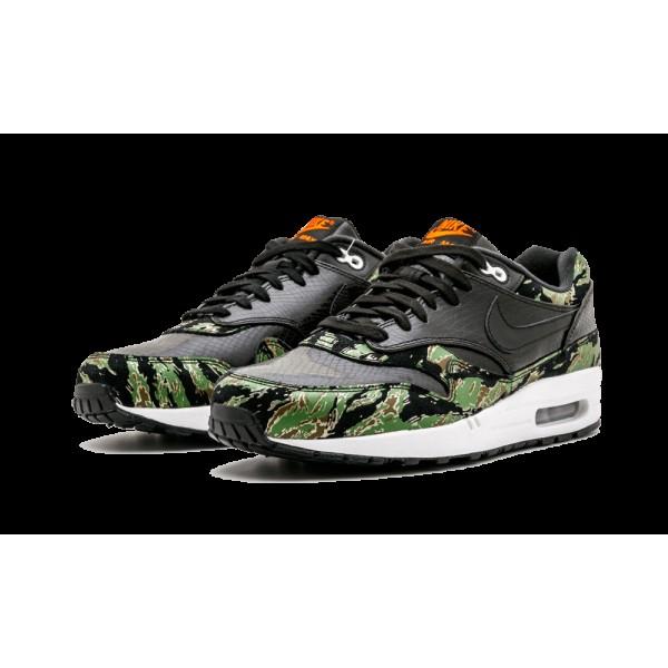 Nike Air Max 1 PRM Noir/Chlorophil/Orange Blaze 512033-003