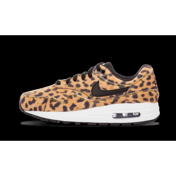 Nike Air Max 1 QS Chaussures de Femme Or/Blanche/Noir 827657-700