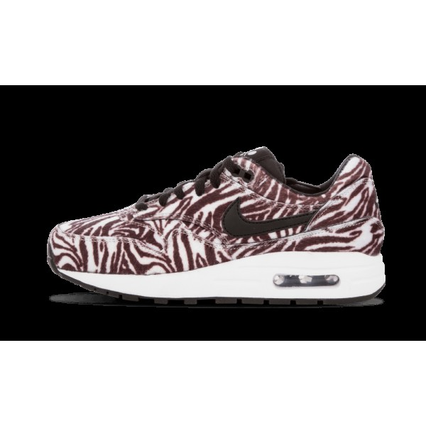 Nike Air Max 1 QS GS Zoo Pack Zebra Blanche Noir 8...