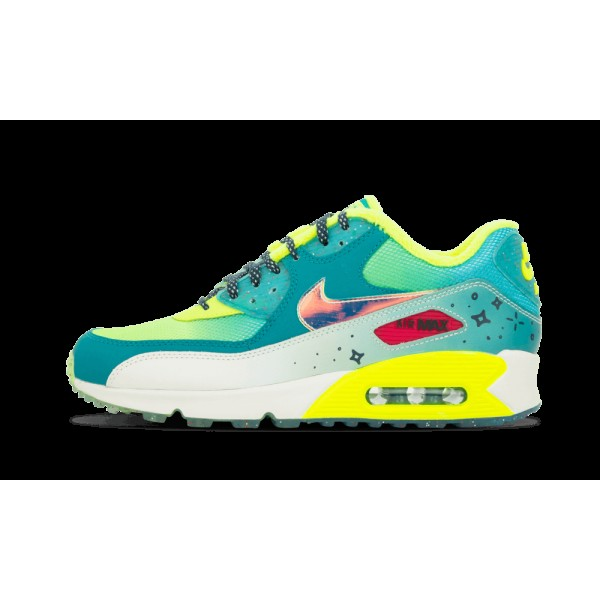 Nike Air Max 90 Premium Femme DB Radiant Emerald/Midnight Teal/Sail/Volt