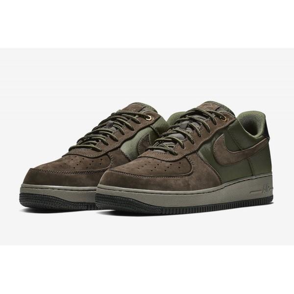 Nike Air Force 1 Premium Baroque Marron Olive Chaussures Homme AJ7408-200