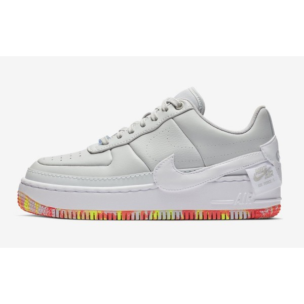 Nike Air Force 1 Jester XX Print Blanche Jaune Cha...