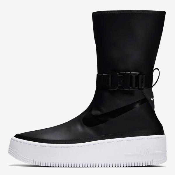 Nike Air Force 1 Sage High Noir Blanche Chaussures...