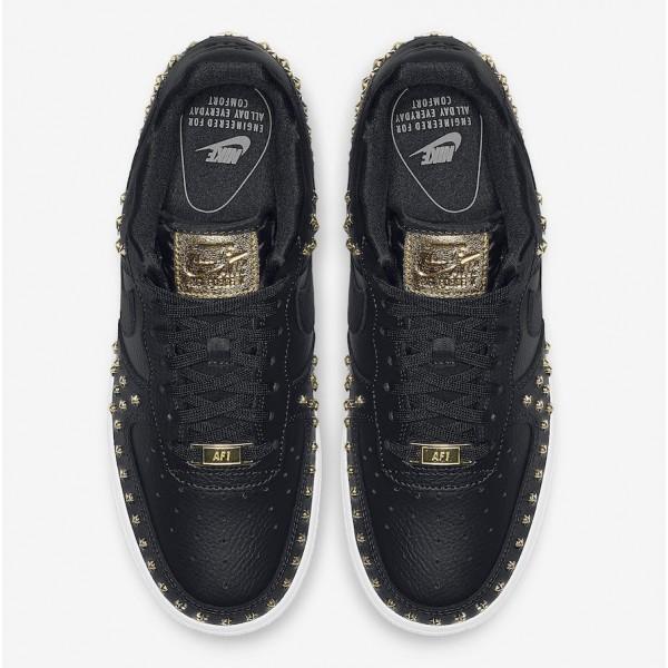 Nike Air Force 1 Low Noir Metallic Gold Chaussures Femme AR0639-001