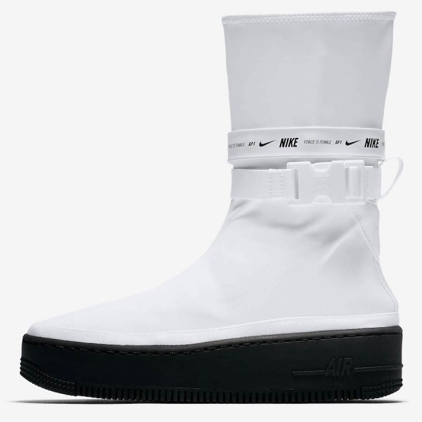 Nike Air Force 1 Sage High Blanche Noir Chaussures...