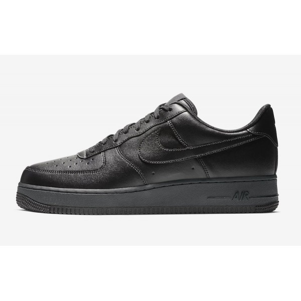 Nike Air Force 1 Flyleather Triple Black Chaussure...
