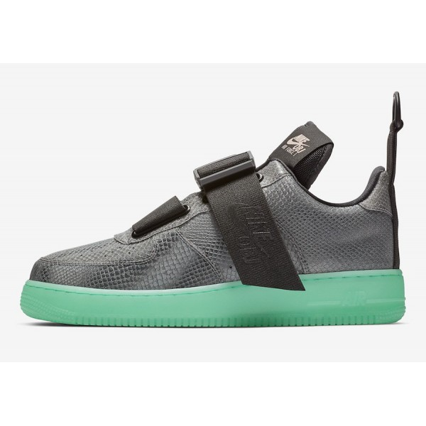 Nike Air Force 1 Utility OBJ Cool Gris Vert Chauss...