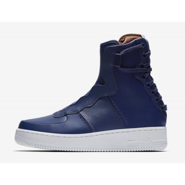 Nike Air Force 1 Rebel XX Bleu Volt Blanche Chauss...