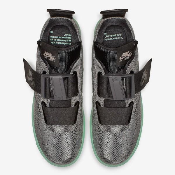 Nike Air Force 1 Utility OBJ Cool Gris Vert Chaussures AV2040-001