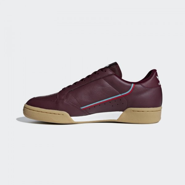 Adidas Continental 80 Burgunday Aqua Chaussures B4...