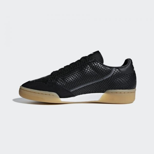 Adidas Continental 80 Core Black/Gum Chaussures B4...