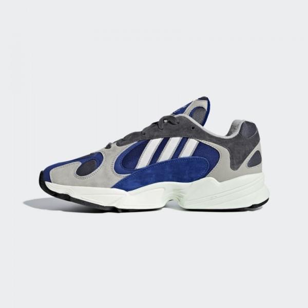 Adidas Originals Yung 1 Gris Navy Blanche Chaussur...