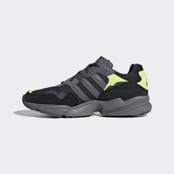 Adidas Yung 96 Running Shoes Noir Gris Jaune F9718...