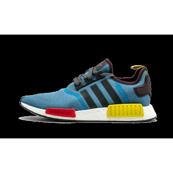 Adidas NMD_R1 Multi-Neon/Bleu/Rouge/Blanche BA9746