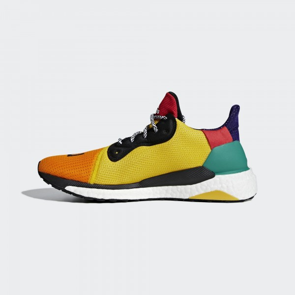 Pharrell Williams x Adidas Solar Hu Noir Gold Vert...