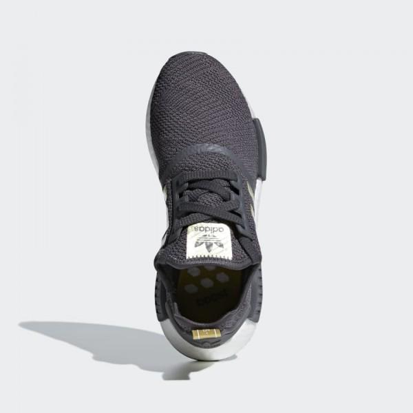 Femme Adidas Originals NMD R1 Gris Gold Chaussures B37651