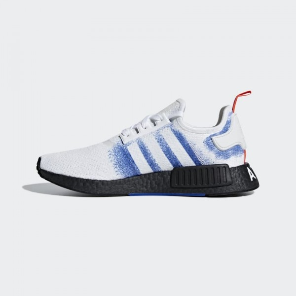 Adidas NMD R1 Blanche/Bold Bleu/Noir Chaussures Ho...