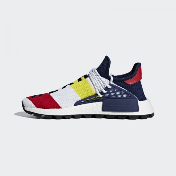 Pharrell Williams x Adidas NMD Hu Blanche Rouge Bl...