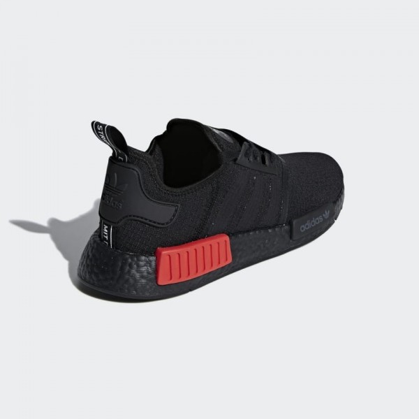 Adidas NMD R1 Homme Noir Rouge Running Shoes B37618
