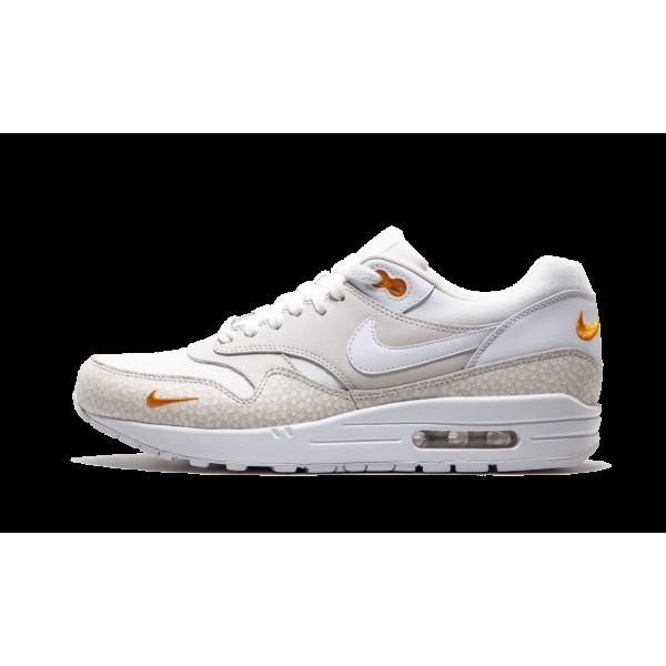 Nike Air Max 1 Premium Blanche Kumquat Chaussures ...