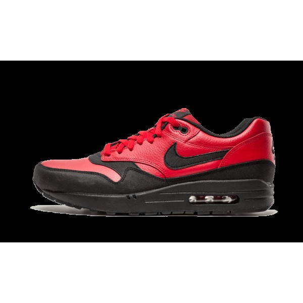 Nike Air Max 1 LTR Leather Premium Gym Rouge Noir ...