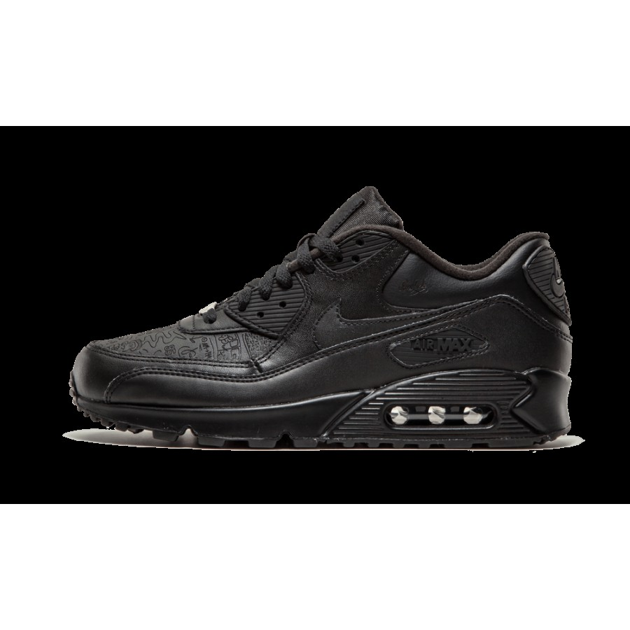 new style b13d6 264f7 302519-001 Nike Air Max 90 Leather Noir